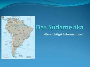 Презентация на немецком Южной Америке